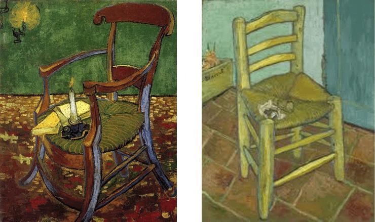 ゴーギャンの肘掛け椅子とファン・ゴッホの椅子