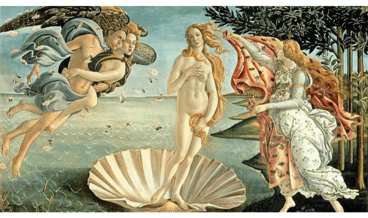 ボッティチェリの《ヴィーナスの誕生》