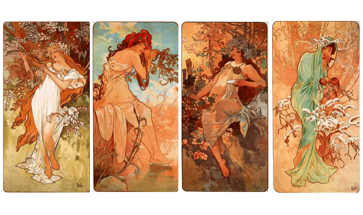 ミュシャ・1896年四季