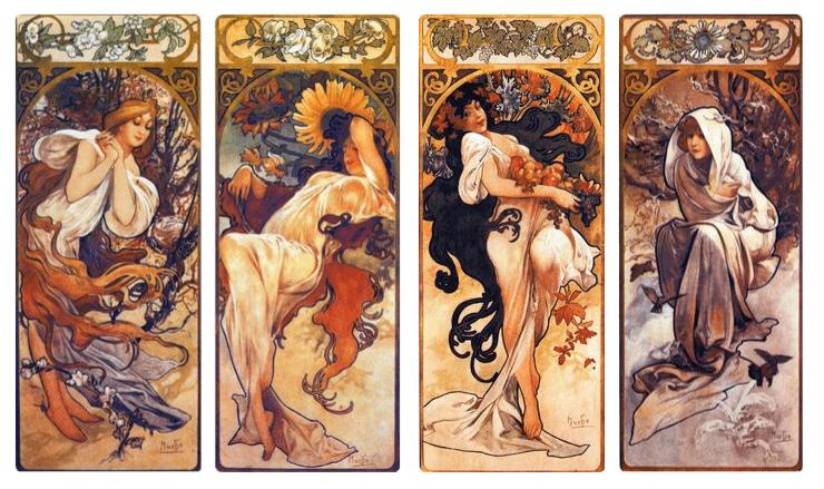 ミュシャ・1897年四季