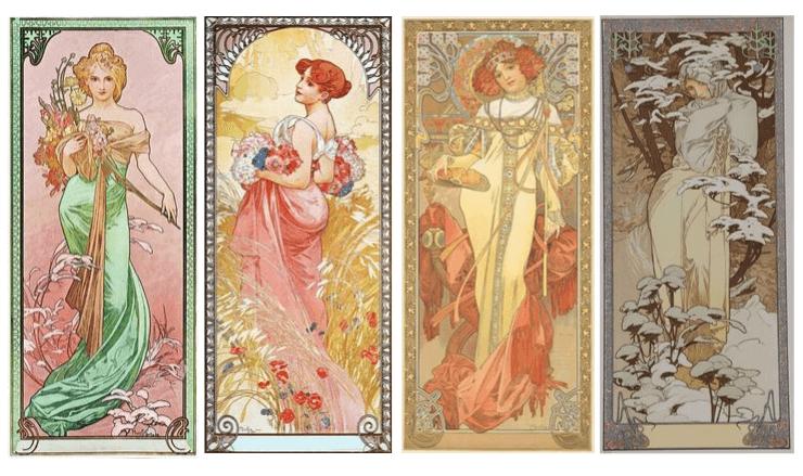 ミュシャ・1900年四季