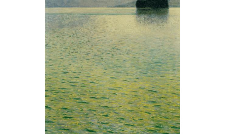 クリムトが描いたアッター湖の絵画
