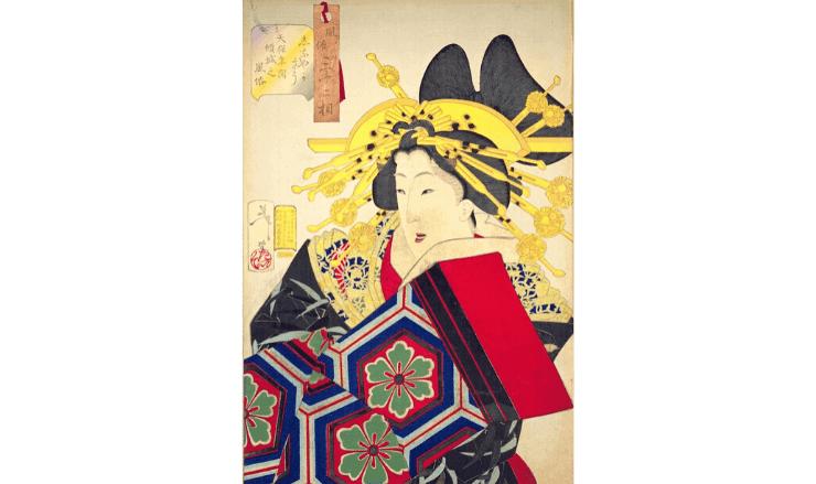 江戸時代の遊女の絵画