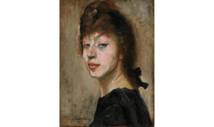頭の尖った女性の肖像画