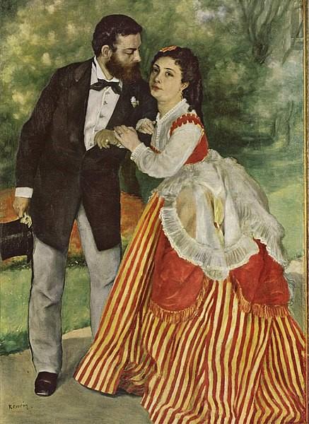 アルフレッド・シスレーとその妻
