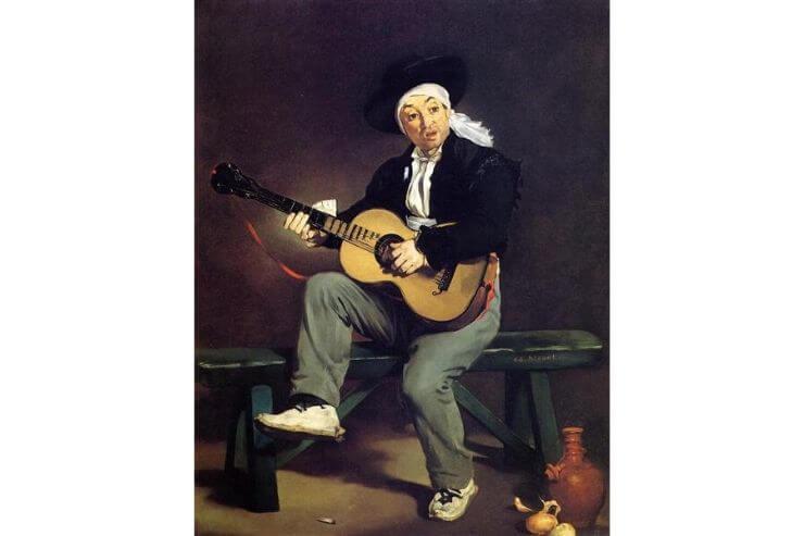 「スペインの歌手(The Spanish Singer)」(1860年、ニューヨークのメトロポリタン美術館所蔵)