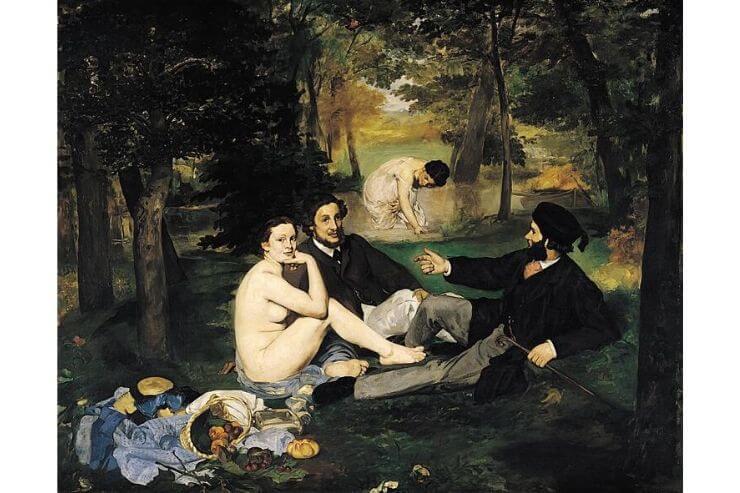 「草上の昼食(The Luncheon on the Grass)」(1863年、オルセー美術館所蔵)