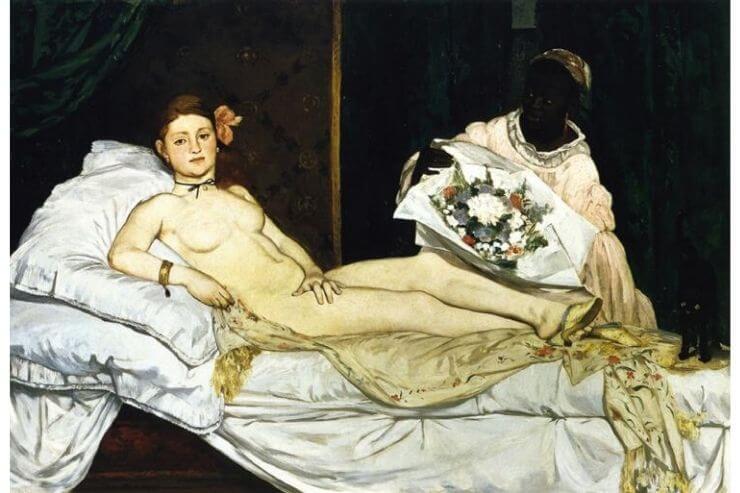 「オランピア(Olympia)」(1863年、オルセー美術館所蔵)