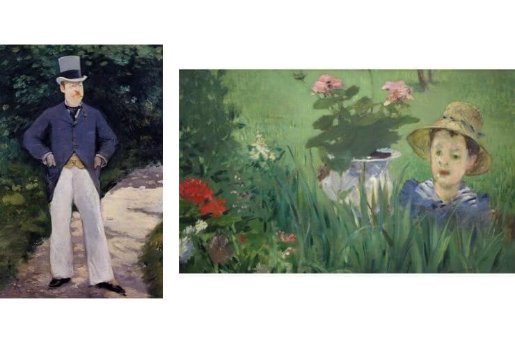 ブラン氏の肖像・花の中の子供(ジャック・オシュデ)